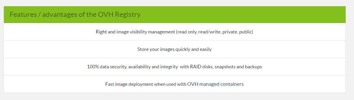 ovh docker registry features