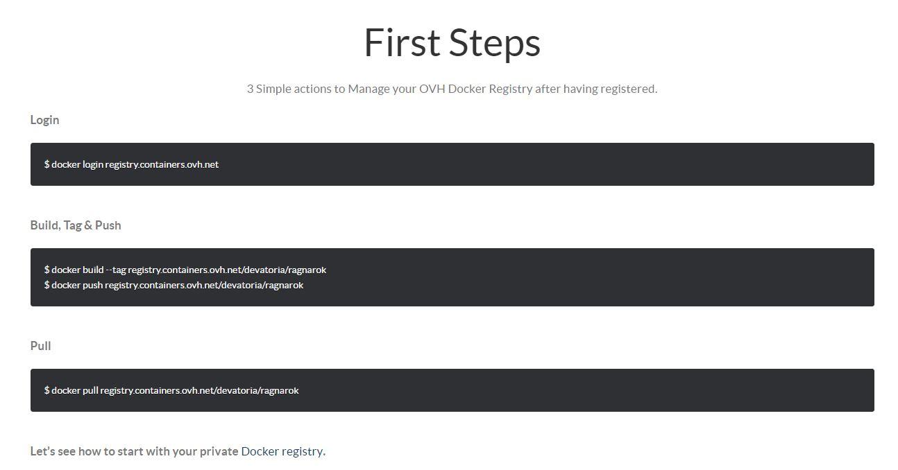 ovh docker registry guide