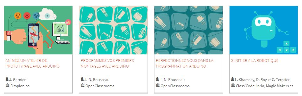 cours openclassrooms arduino